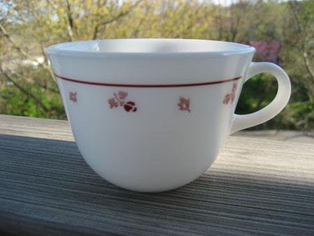 Pyrex Burgundy Cup
