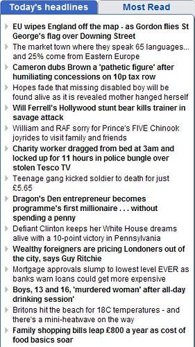 Mail today's headlines