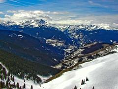 BJ691 Beaver Creek Skiing (listentoreason) Tags: winter sky usa mountain snow water clouds america landscape colorado skiing unitedstates scenic favorites places olympus event co beavercreek activity score30 olympusc4040z c4040z