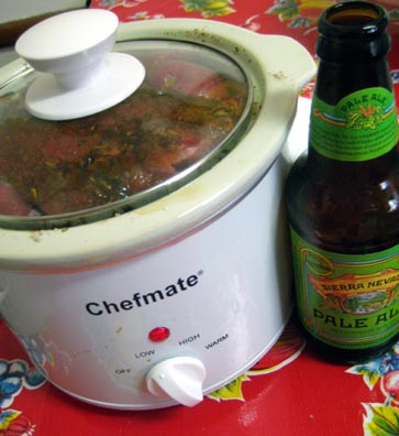 Beer in the slow cooker