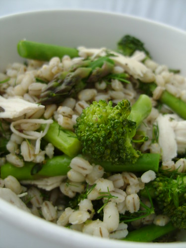 Green Chicken Barley Salad