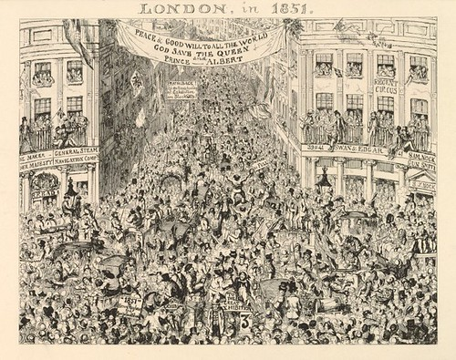 satirical cartoon - London in 1851