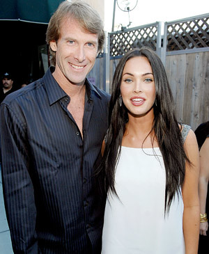 Michael Bay y Megan Fox 2008