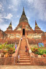 IMG_5673_4_5_HDR (Marc Aurel) Tags: thailand temple ruin unesco worldheritagesite ruine thailandia hdr tempel weltkulturerbe ayutthaya tempio ayudhya patrimoniodellumanit 40d watyaichayamongkol phranakhonsiayutthaya eos40d