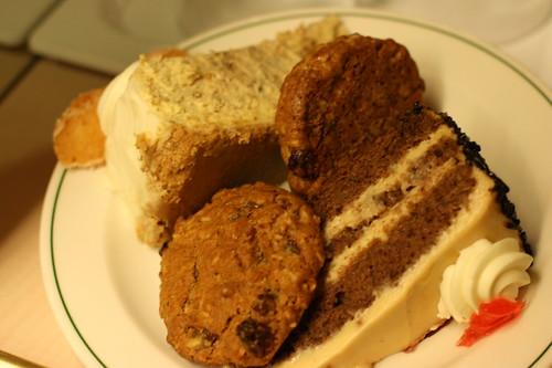 Dessert from buffet