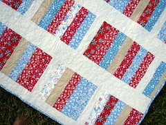 dog quilt front