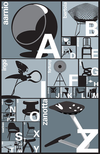 A-Z Nero poster by Blue Art Studio