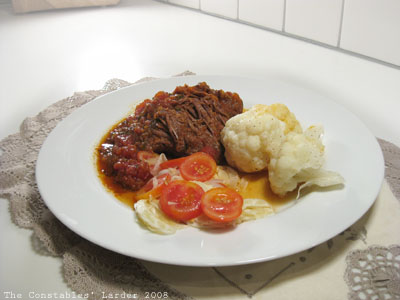 Tomato-based Beef Braise