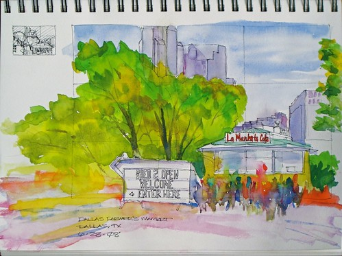 Watercolor Sketch - Dallas Farmer's Market