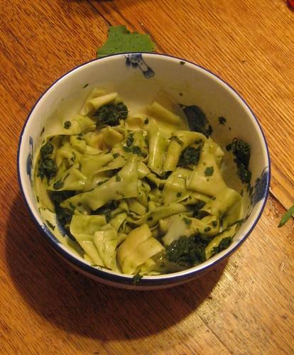 Chard Basil Pesto Pasta