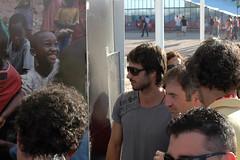 Hugo Silva en el stand de VOCES en Rock in Rio...