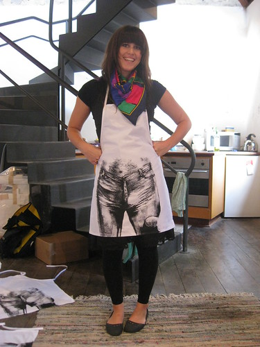 alyssa models the bon scott blog apron