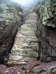 Arrivée au ruisseau de Bocca Rossa : l'escalier du ressaut
