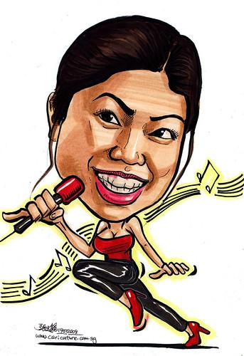 Caricature singer