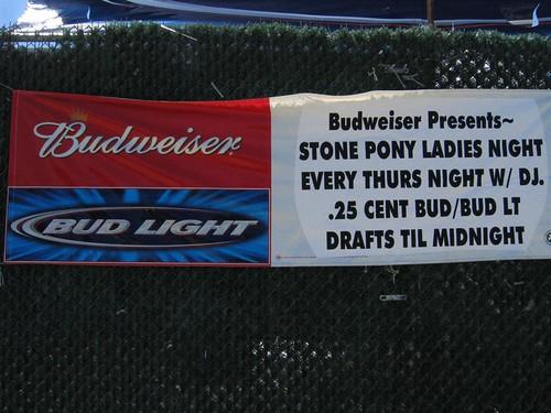 Cheap beer on ladies night