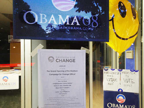 Smile! Obama's Campaign for Change Coming to Monroe Street