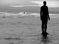 Come back (Mr Grimesdale) Tags: statue liverpool sony gormley crosby antonygormley merseyside rivermersey mrgrimsdale stevewallace dsch2 mrgrimesdale