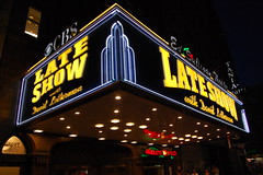 20080801 Late Show (Tom Spaulding) Tags: nyc newyorkcity newyork sign night broadway lateshowwithdavidletterman edsullivantheater