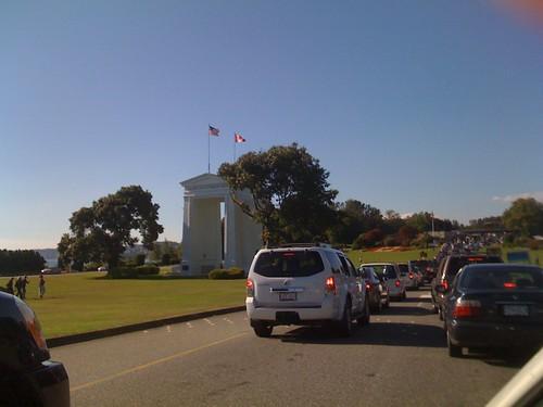 Peace Arch Border crossing traffic