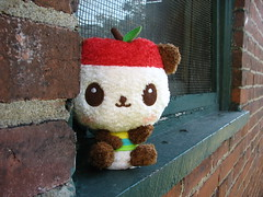 Pandapple says Hello (ThisWorldFloats) Tags: plush sanrio kawaii pandapple