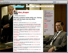 Following Don Draper on Twitter