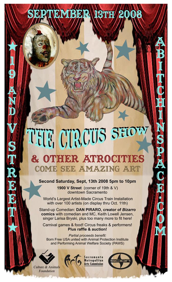 Circus Show flier.