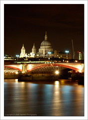 (Yazeed) Tags: city uk england reflection london church thames d50 river lights nikon europe nightshot unitedkingdom august stpaulscathedral 2008 blackfriarsbridge wonderworld yazeed mywinners colourartaward nikonflickraward