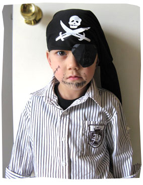 Callum as a pirate for Book Week