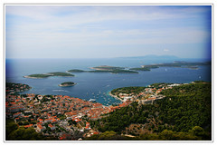 pakleni otok (wunderskatz) Tags: blue houses sea sky nature water beauty clouds landscape islands gulf croatia roofs hvar hrvatska otok razglednice pakleni wunderskatz