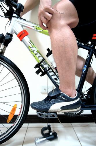 垂直線盡量與踏板軸心對齊