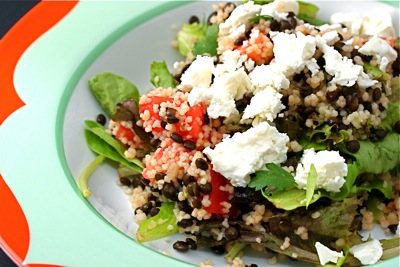 mediterranean couscous and lentils