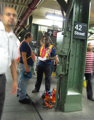 Night Time Contractors on New York Subway