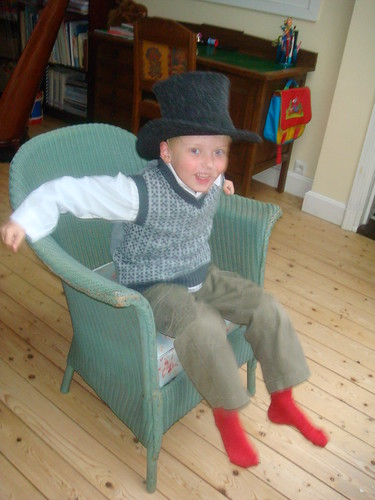Little boy with the top hat