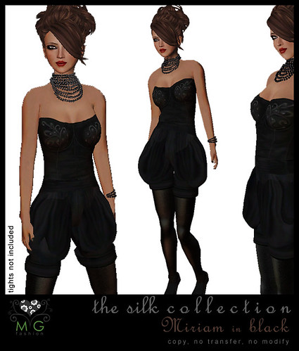 [MG fashion] The Silk Collection - Miriam (black)