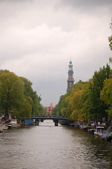 Amsterdam (teachandlearn) Tags: bridge amsterdam canal westerkerk