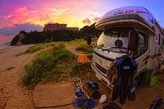 Zil Sunset (/\ltus) Tags: sunset japan pentax surfing handheld freehand hdr izu shimoda campingcar tatado 5xp japanhdr vantech k20d zil520