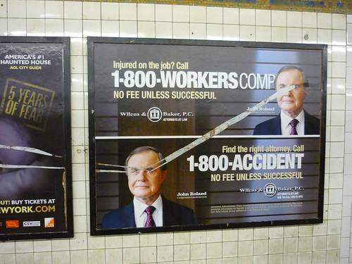 Subway poster Vandalism Art