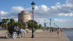 Thessaloniki , Greece  /  my favo pic from Greek Set! (Alexanyan) Tags: city light sea sky horse white tower greek coast seaside aegean hellas greece macedonia grecia thessaloniki orthodoxchristian grece salonica orthodoxy phaeton ellada selanik hellenic pirgos levkos ellinika griechland hunastan