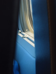 Chewing gum...Ryanair style (KevinAndrew350) Tags: window plane aircraft flight dirty shannon boeing ryanair luton 737