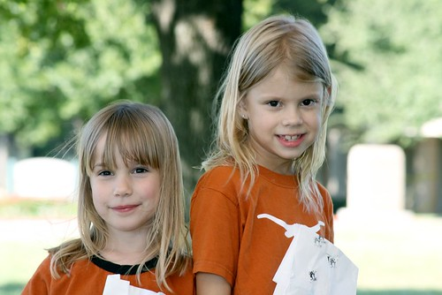 Tessa and Cassie are Longhorn fans