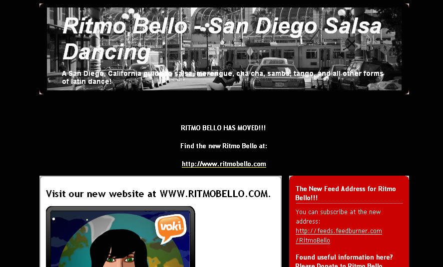 Old Ritmo Bello Website