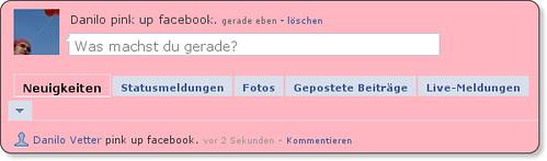 screenshot in pink