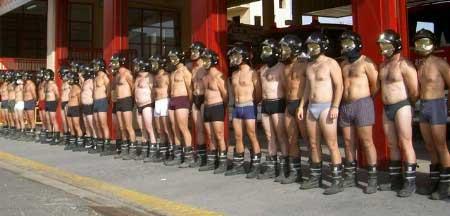 Protesta de bomberos x condiciones laborales