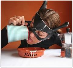 Miaoooow! (sosij) Tags: selfportrait coffee italian thankyou mask cream kitty espresso masked maker catwoman creamjug bialetti catbowl mokaexpress coffeewithcream abigfave catthatgotthecream 4inexplore catwomanmask flickrgrouproulette homemademaskohyes blameitonthekitty imsoproudofthekittywritingandcreamdripsfromanalternateshotwhiciaddedafter youllhavetotakeitblack
