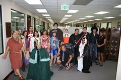 All the costumed people at work. (10/31/2008)