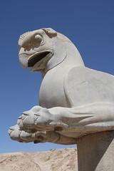 Statue at Persepolis, Iran (Rowan Castle) Tags: travel sculpture archaeology statue architecture canon eos persian ancient asia iran middleeast persia shiraz iranian 2008 persepolis img6405 xti 400d ef24105mmf4lisusmlens