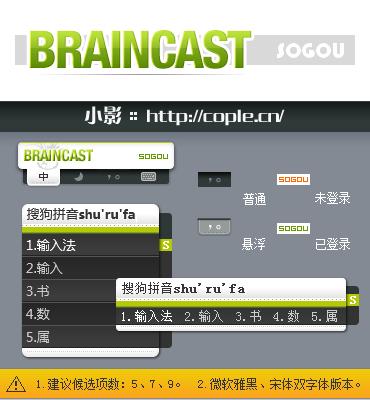 搜狗拼音/五笔输入法皮肤 - BRAINCAST