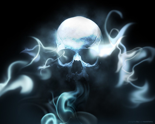 skull wallpapers. Smoking Skull - Wallpaper