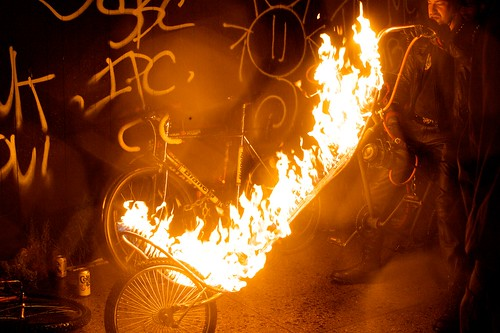Bicycle On Fire
