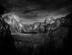 Yosemite Valley (Jattitude) Tags: california trees inspiration storm west art pine clouds america point landscape coast waterfall adams tmax united nevada fine large el sierra 8x10 valley yosemite dome half granite format imaging cypress states northern eastern terrance reimer ansel capitan rodenstock 240mm sironar wehman scanneratamburo scansioneatamburo scansioneprofessionale